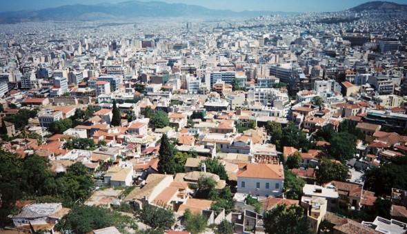 toits de la ville d'Athènes